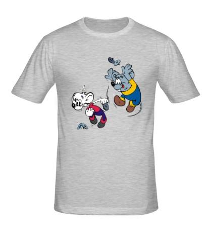 Мужская футболка Приключения Кота Леопольда