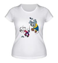 Женская футболка Приключения Кота Леопольда