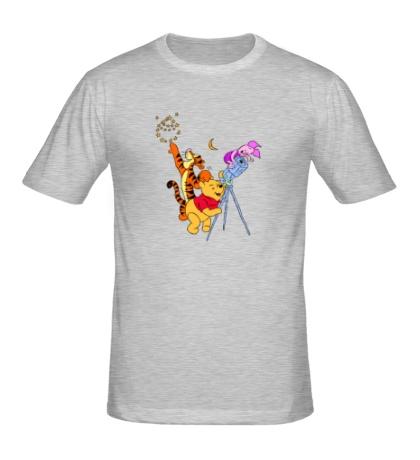 Мужская футболка Винни Пух и звезды