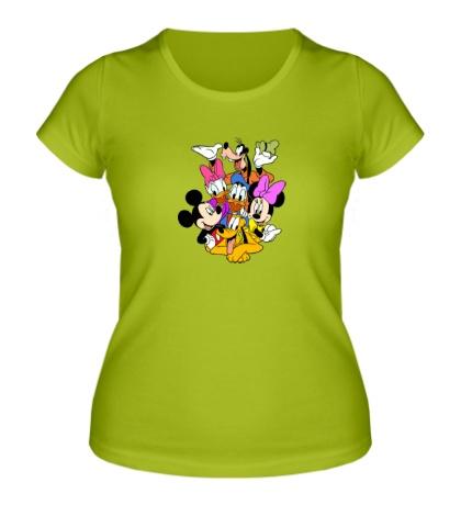 Женская футболка Семья Дисней