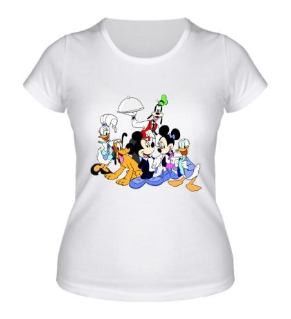 Женская футболка Семья Микки