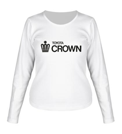 Женский лонгслив Toyota crown big logo