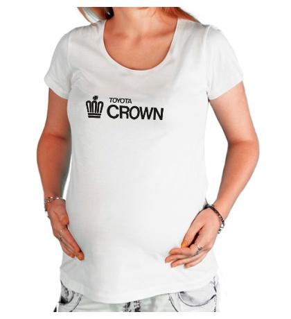 Футболка для беременной Toyota crown big logo