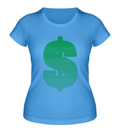 Женская футболка Знак доллара