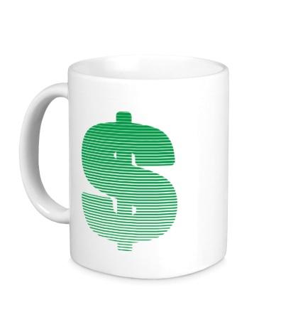 Керамическая кружка Знак доллара