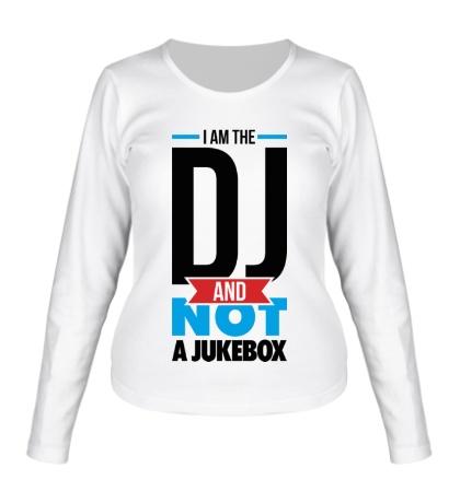 Женский лонгслив I am the DJ