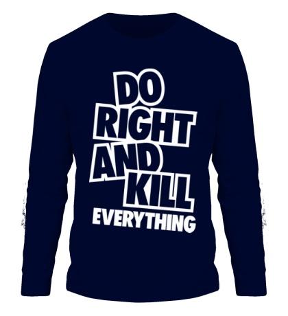 Мужской лонгслив Do Right and Kill