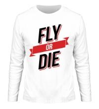 Мужской лонгслив Fly or Die