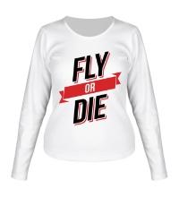 Женский лонгслив Fly or Die