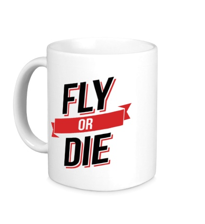 Керамическая кружка Fly or Die