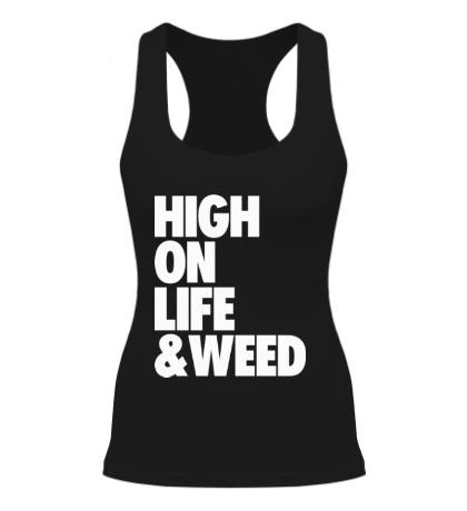 Женская борцовка High on Life & Weed