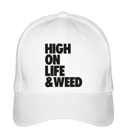 Бейсболка High on Life & Weed