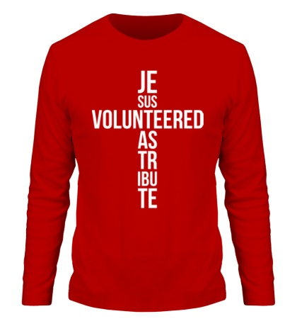 Мужской лонгслив Jesus Volunteered