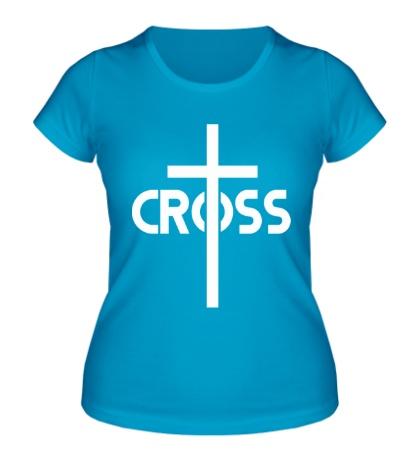 Женская футболка Long Cross