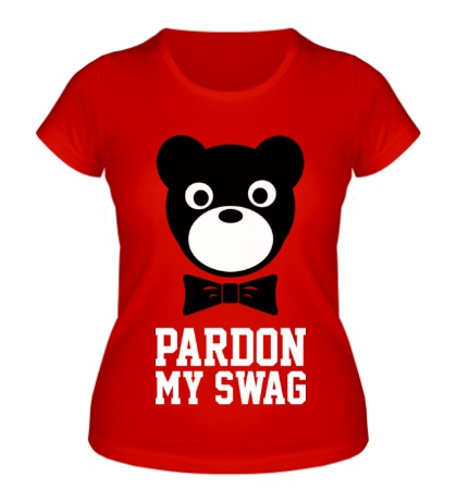 Женская футболка Pardon my SWAG