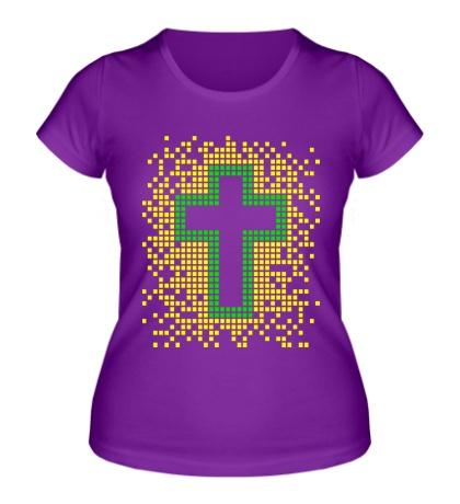 Женская футболка Pixel Cross
