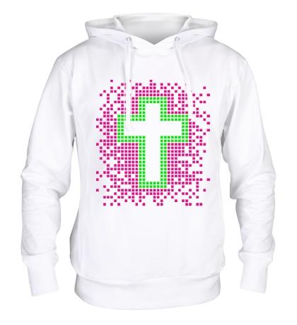 Толстовка с капюшоном Pixel Cross