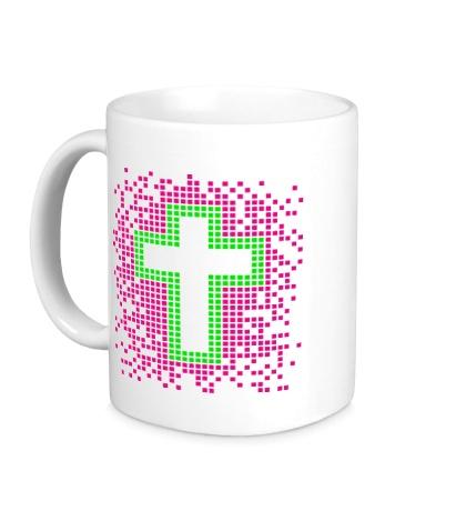 Керамическая кружка Pixel Cross