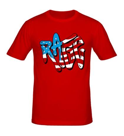 Мужская футболка Rage Like an American