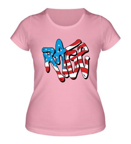 Женская футболка Rage Like an American