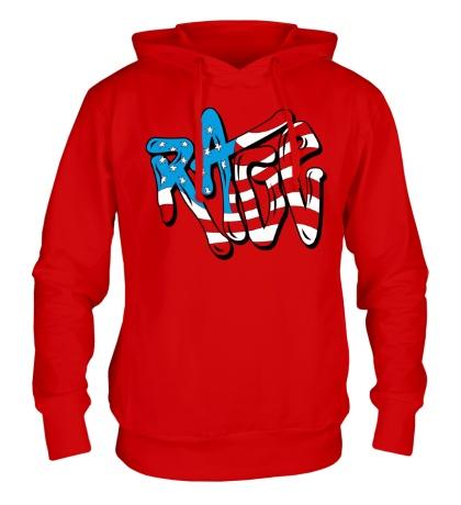 Толстовка с капюшоном Rage Like an American