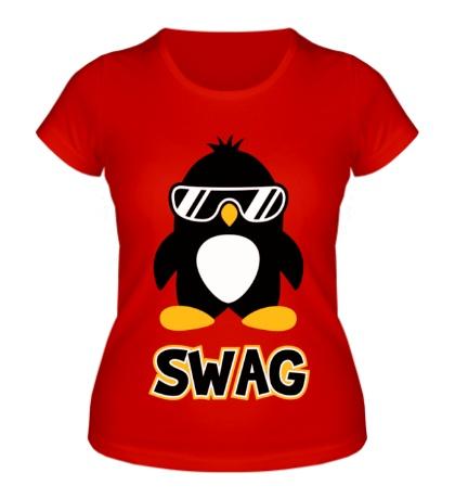 Женская футболка SWAG Penguin