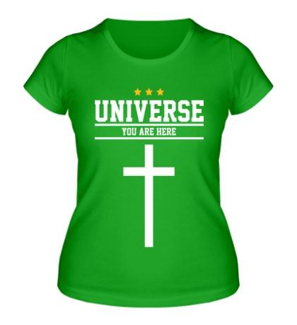 Женская футболка Cross Universe