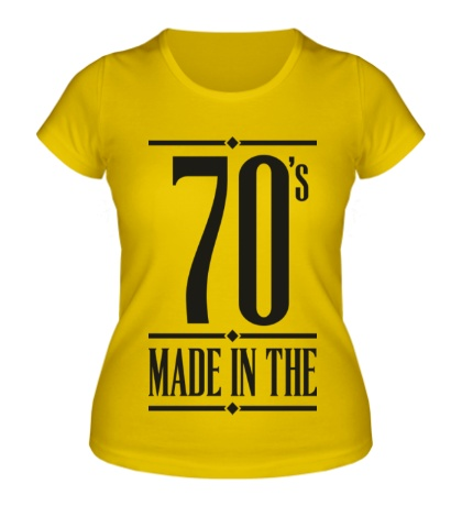 Женская футболка Made in the 70s