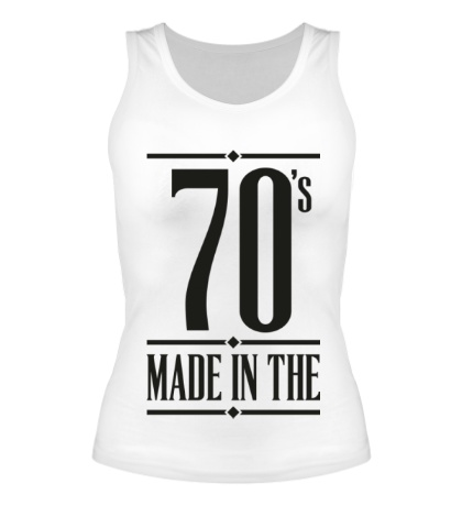 Женская майка Made in the 70s