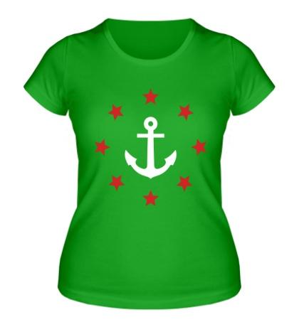 Женская футболка Anchor Stars