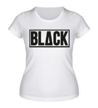 Женская футболка Black