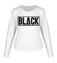 Женский лонгслив Black