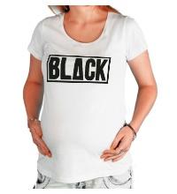Футболка для беременной Black