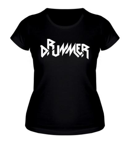 Женская футболка Drummer