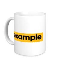Керамическая кружка Example