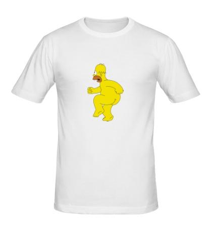 Мужская футболка Голый Гомер