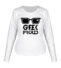 Женский лонгслив Geek & Proud