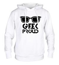 Толстовка с капюшоном Geek & Proud