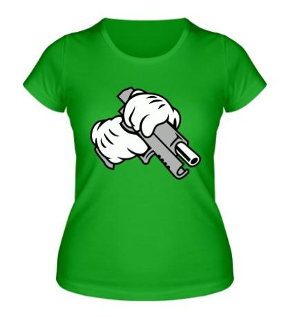Женская футболка Gun Hands