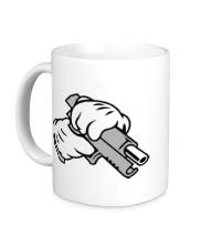 Керамическая кружка Gun Hands