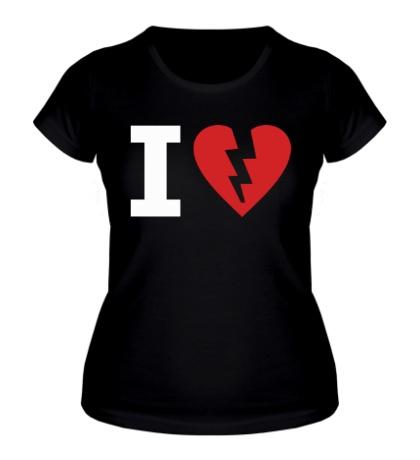 Женская футболка I Hate