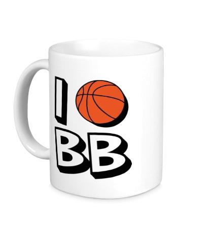 Керамическая кружка I love Basketball