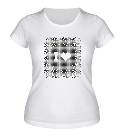 Женская футболка I love Pixel