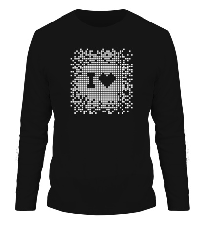 Мужской лонгслив I love Pixel