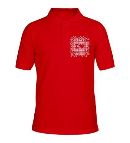 Рубашка поло I love Pixel