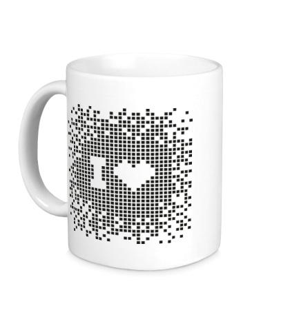 Керамическая кружка I love Pixel