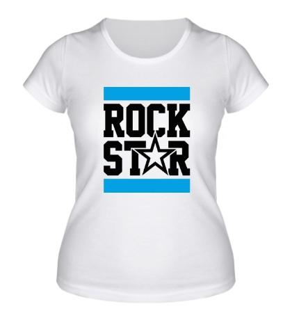 Женская футболка Run Rock Star