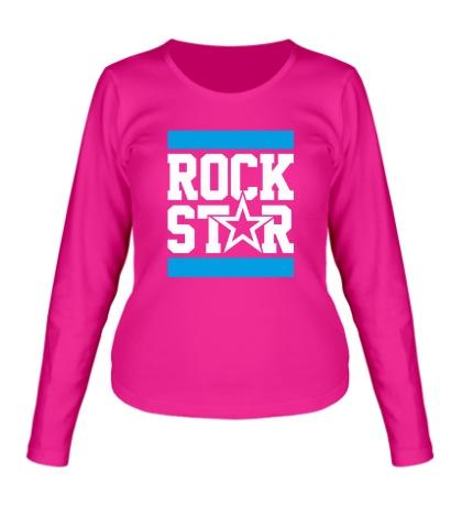 Женский лонгслив Run Rock Star