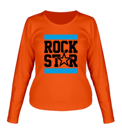 Женский лонгслив Run Rock Star