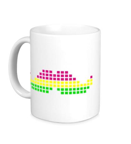 Керамическая кружка Moustache Pixel